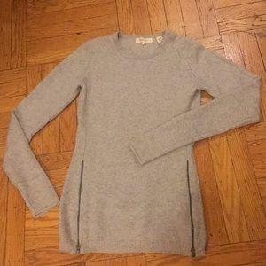 Inhabit Cashmere Side Zip Sweater